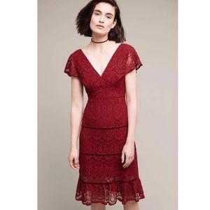 Anthropologie Foxiedox Clarinda Lace Tiered Dress